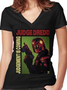 Judge Dredd Women's Fitted V-Neck T-Shirt
