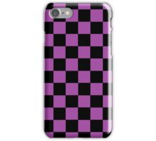Checkered Purple and Black  iPhone Case/Skin