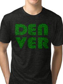 Denver Colorado Weed Leaf Pattern Tri-blend T-Shirt
