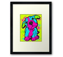 Colourful Pit Bull Puppy  Framed Print