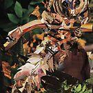 Squirrel Glider Collage by Shawna Rowe