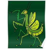 Heraldic Mantis Poster