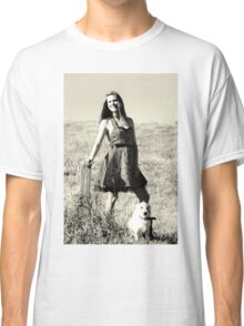 A girl and her dog. Classic T-Shirt
