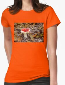 Mushroom ~ On a Sandy Path Womens Fitted T-Shirt
