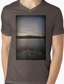 Sunset Point Sail Mens V-Neck T-Shirt