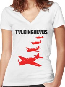 Talking Heads - Remain in Light (Back) Women's Fitted V-Neck T-Shirt