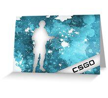 CS:GO Blue Splatter Greeting Card