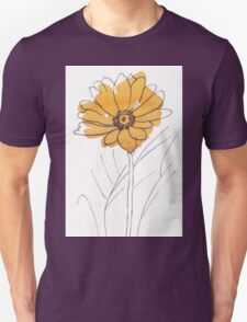 Cheerful Gerbera daisy (Gerbera jamesonii) Unisex T-Shirt