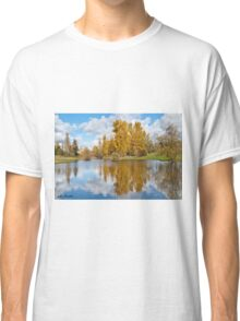 Fall Colors and Clouds Reflected in a Pond Classic T-Shirt