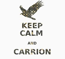 keep calm and carrion vulture grunge polka dot Unisex T-Shirt