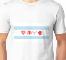 Chicago Sports Flag Unisex T-Shirt