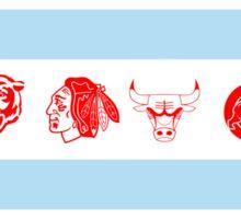 Chicago Sports Flag Sticker