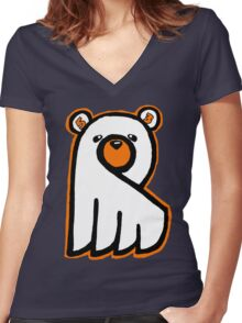 Ghost Bear IV Women's Fitted V-Neck T-Shirt