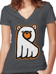 Ghost Bear IV Women's Fitted V-Neck T-Shirt