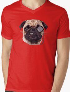 Pug Mens V-Neck T-Shirt