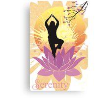 Serenity Yoga Design Canvas Print
