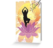 Serenity Yoga Design Greeting Card