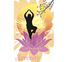 Serenity Yoga Design Photographic Print