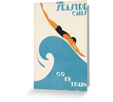 The Seaside Calls, Australia Vintage Travel Poster Greeting Card