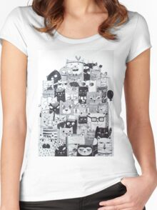 Cats meeting Women's Fitted Scoop T-Shirt