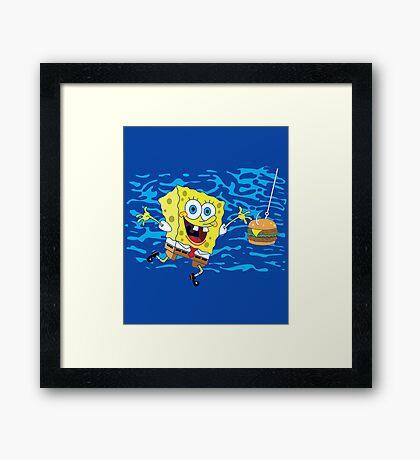 Krabby Patty! Framed Print
