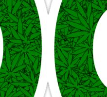 Washington, DC Weed Pattern Sticker