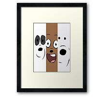 we bare bears TV Show Framed Print