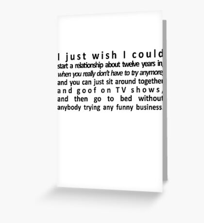 Perfect Relationship Greeting Card