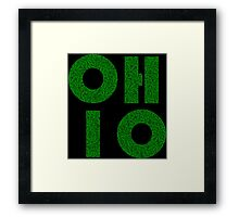 Ohio (OH) Weed Leaf Pattern Framed Print