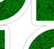 Ohio (OH) Weed Leaf Pattern Sticker