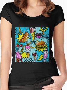 Burger Rock! Women's Fitted Scoop T-Shirt