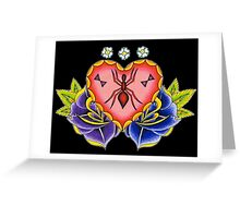 Spider Heart Greeting Card