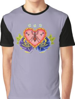 Spider Heart Graphic T-Shirt