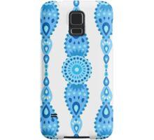 Intricate Blue Decorative Garland Pattern Samsung Galaxy Case/Skin