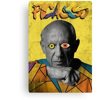 Picasso Photograph (Modern Art Style) Canvas Print