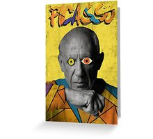 Picasso Photograph (Modern Art Style) Greeting Card