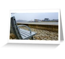 Steelers Football Bench View Greeting Card