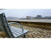 Steelers Football Bench View Photographic Print