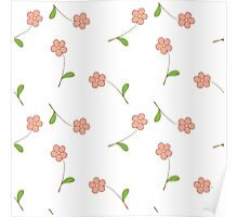 Delicate pink flowers. Poster