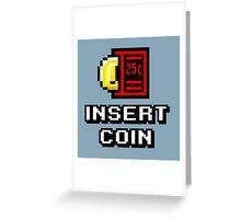 Insert Coin Arcade Pinball Machine Greeting Card
