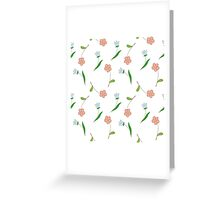 Delicate flowers. Greeting Card