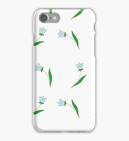 Delicate blue flowers. iPhone Case/Skin