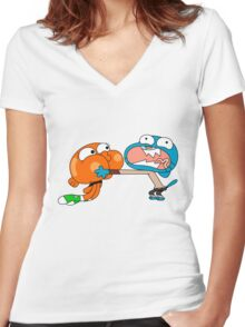 The amazing world of gumball 7 Women's Fitted V-Neck T-Shirt