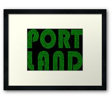 Portland Oregon (OR) Weed Leaf Pattern Framed Print
