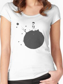 The Little Prince Black Women's Fitted Scoop T-Shirt