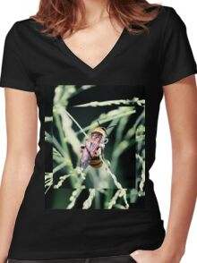 Restful Bee Women's Fitted V-Neck T-Shirt