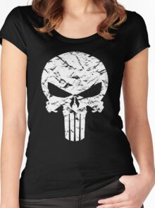 Punisher Logo Women's Fitted Scoop T-Shirt