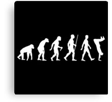 Human Evolution Parkour Evolution Canvas Print