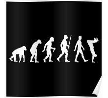 Human Evolution Parkour Evolution Poster
