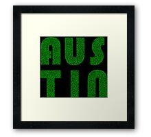 Austin Texas (TX) Weed Leaf Pattern Framed Print